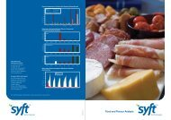 Syft Food and Flavour Analysis Brochure