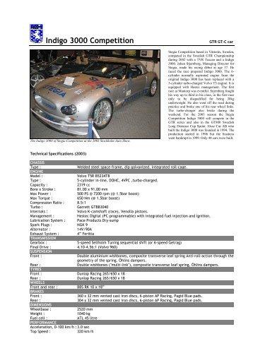 96 Indigo 3000 Competition - Motorsports Almanac