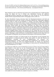 Der am 23.2.2001 von Prof. Dr. Reinhard Zimmermann, LL.D., LL.D ...