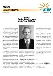 Freien Wähler - Bildungswerk für Kommunalpolitik Bayern