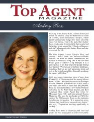 Audrey Ross - Top Agent Magazine
