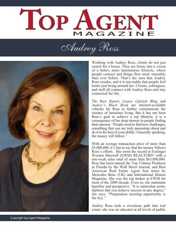 Audrey Ross - Top Agent Magazine