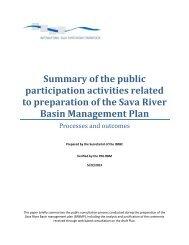 Rezime konzultacija o nacrtu Plana - International Sava River Basin ...