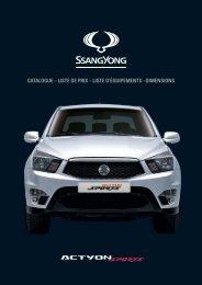 catalogue – liste de prix – liste d'équipements ... - SsangYong