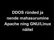 DDOS ründed ja nende mahasurumine Apache ning ... - tud.ttu.ee