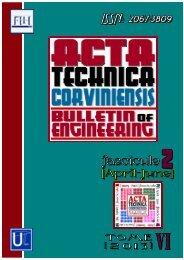a review - Acta Technica Corviniensis