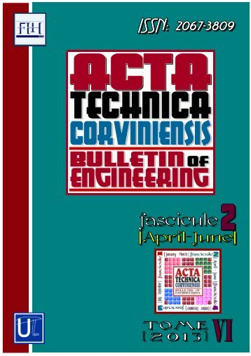 a review - Acta Technica Corviniensis