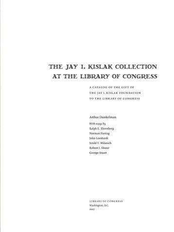 Maya Flasks & Carlson Intro Kislak Catalog 2007
