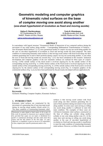 Geometric modeling and computer graphics of kinematic ruled ...