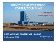 Surveying at Oyu Tolgoi Copper/Gold Mine - Chris Hutchison - AIMS