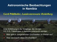 Astronomische Beobachtungen in Namibia Gerd Pühlhofer