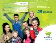 25 years of success bliain faoi rath - National Lottery