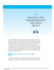 writing the paragraphs in the first draft - Pearson Learning Solutions