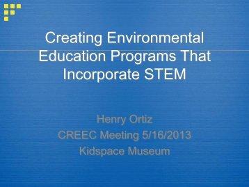 Presentation by Henry Ortiz