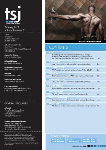 Download TSJ February 2012 - Tile and Stone Journal