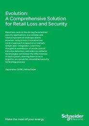 Evolution: A Comprehensive Solution for Retail ... - Schneider Electric