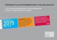 STRATEGISK PLAN FOR FREDRIKSTADS ... - Fredrikstad 2015