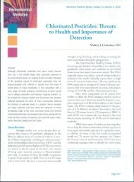 Chlorinated Pesticides: Threats to Health and Importance ... - Articles