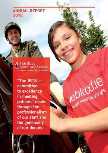 IBTS Annual Report 2009.pdf - Irish Blood Transfusion Service