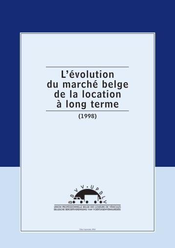 L'évolution du marché belge de la location à long terme (1998) - Renta
