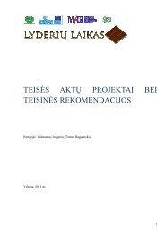 teisės aktų projektai bei teisinės rekomendacijos - Lyderių laikas
