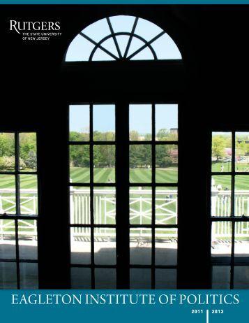 2011-12 - Eagleton Institute of Politics - Rutgers, The State ...