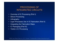 PROCESSING OF INTEGRATED CIRCUITS