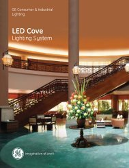 The GE LED Cove Lighting System is rated to perform ... - Light Source