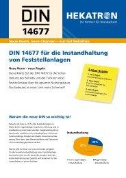 DIN 14677 für die Instandhaltung von Feststellanlagen