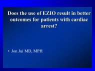 Vasopressin and Cardiac Arrest Outcomes - Gathering of Eagles