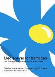 Läs Sverigedemokraternas budgetförslag - Karlskrona kommun