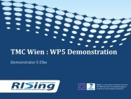 Rising wp5 demonstration demo 5 elbe extern