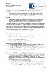 FAQ Care College - Care Concept AG