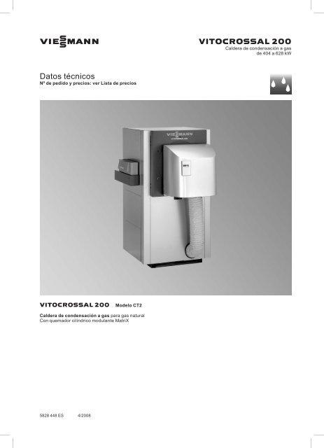 Datos técnicos Vitocrossal 200 CT21.1 MB - Viessmann