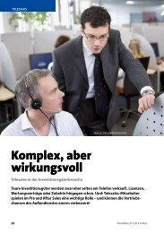 Komplex, aber wirkungsvoll - Callcenter-Profi