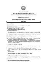 Ensino Médio - Biologia - Secretaria de Educação de Pernambuco