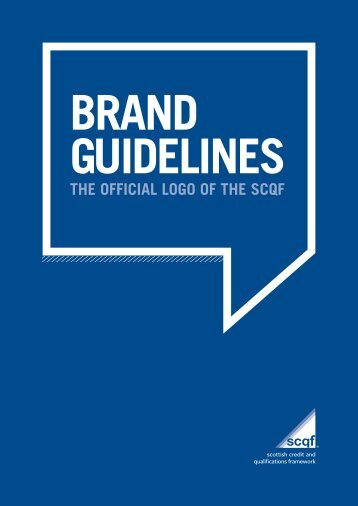 SCQF Brand Guideline.. - Scottish Credit and Qualifications ...