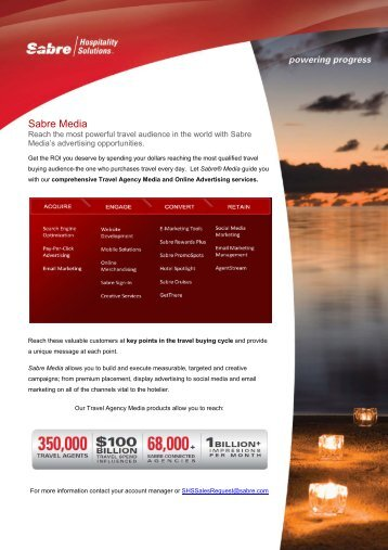 SHS Sabre Media Kit - Sabre Hospitality Solutions