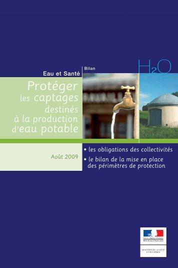 Protéger les captages destinés à la production d'eau potable