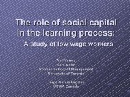 The Role of Social Capital in the Learning Process - Work and ...