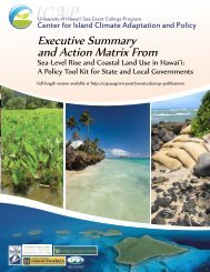 Executive Summary and Action Matrix From - Sea Grant College ...