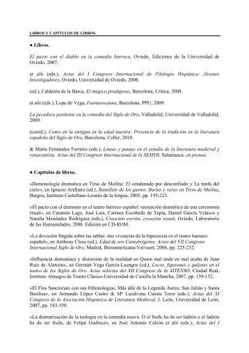 Lista de publicaciones - Instituto de Lengua y Literaturas Hispánicas