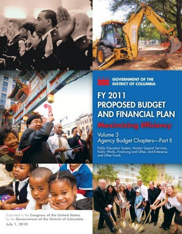 2011 Agency Budget Chapters - Part 2 - Office of the Chief Financial ...