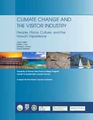 Climate Change and the Visitor Industry - Sea Grant College Program