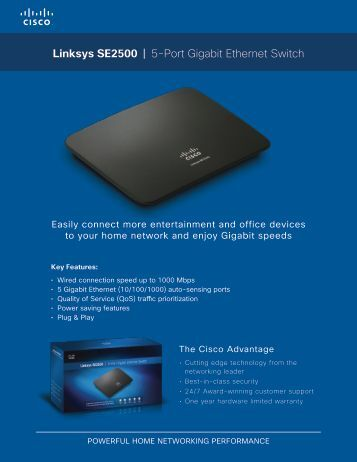 Linksys SE2500 | 5-Port Gigabit Ethernet Switch - MgManager