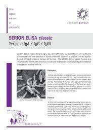 SERION ELISA classic Yersinia IgA / IgG / IgM