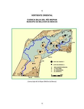 cuenca baja del río mopan - Atlas Arquéologico