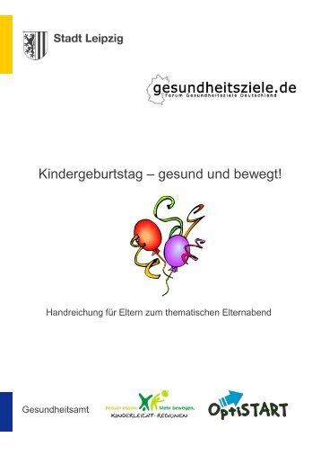 Kindergeburtstag - gesund und bewegt - Stadt Leipzig