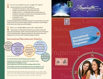 IB Brochure II - Farmington Public Schools