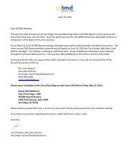 FY 2014 SDTMD BoD Ballot 4-16-13 - SD|TMD San Diego Tourism ...